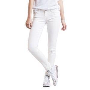 Levi's   White Super Skinny 535 Legging Jeans